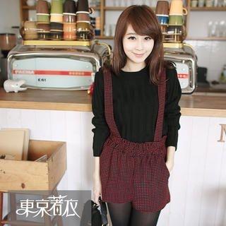 Tokyo Fashion - Dotted Tweed Suspender Shorts