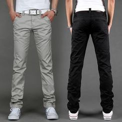 Kuziman - Plain Straight-Leg Pants