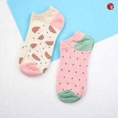 Socka - Pair of 2: Watermelon-Print Socks