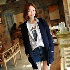 CLICK - Shawl-Collar Cardigan