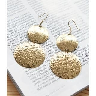 Petit et Belle - Floral Disc Drop Earrings