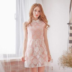 Tokyo Fashion - Beaded-Collar Organza Dress