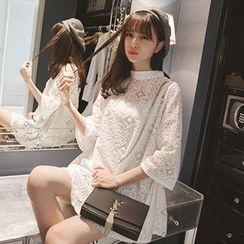 微米家 - 鉤織七分袖裙衣