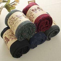 Mushi - Patterned Fleece Leggings