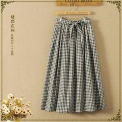 Storyland - Plaid Maxi Skirt