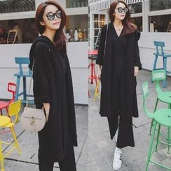 Tang House - Hooded Long Cardigan