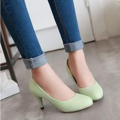 Pastel Pairs - Faux Leather Pumps