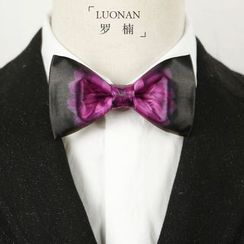 Luonan - Flower Print Bow Tie
