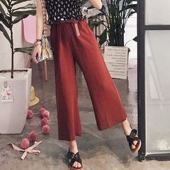 YUKISHU - Cropped Wide Leg Pants