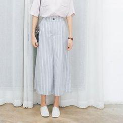 Porta - Pinstripe Wide-leg Pants