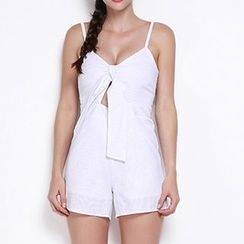 Obel - Strappy Bow Jumpsuit