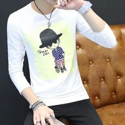 Alvicio - Print Long-Sleeve T-shirt