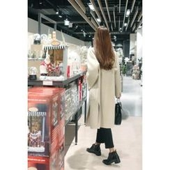 ATTYSTORY - Slit-Side Wool Blend Handmade Coat