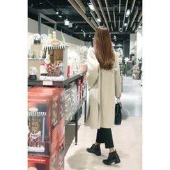 ATTYSTORY - Slit-Side Wool Blend Handmade Coat