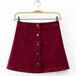 Chicsense - Corduroy Pencil Skirt