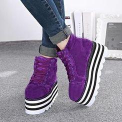Mancienne - Platform High-Top Sneakers