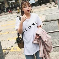 Jinggu Studio - 字母短袖T恤