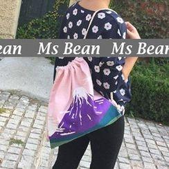 Ms Bean - Drawstring Print Backpack