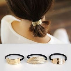 Coolgirl - Metal Plate / Leaf Hair Tie