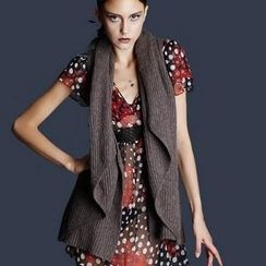 Antalie - Shawl-Collar Knit Vest
