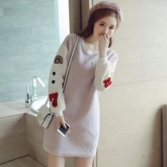 Munai - Long-Sleeve Color-Block Dress