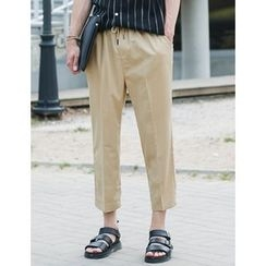 STYLEMAN - Drawstring-Waist Wide-Leg Pants