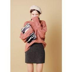 J-ANN - Zip-Side Miniskirt