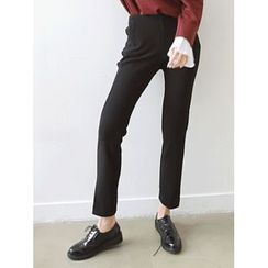 LOLOten - Button-Front Brushed-Fleece Lined Dress Pants
