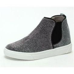 MODELSIS - Zip-Detail Cotton Sneakers