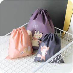 Eggshell Houseware - Cartoon Print Drawstring Storage Bag