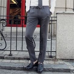 MITOSHOP - Flat-Front Dress Pants