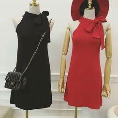 Octavia - Bow Halter Knit Dress