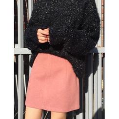 FROMBEGINNING - A-Line Mini Skirt
