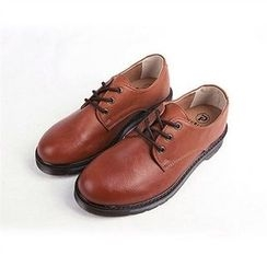 THE COVER - Faux-Leather Oxford
