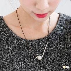 OrangeBear - Triangle Beated Necklace
