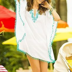 Sunset Hours - Embroidered Cover-up