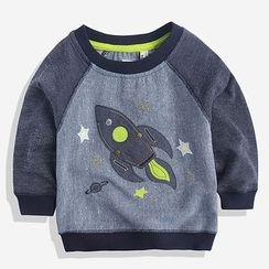 Happy Go Lucky - Kids Raglan Sweatshirt