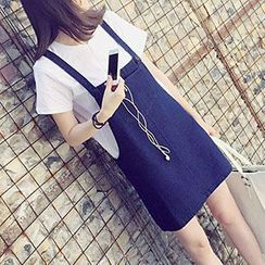 Fashion Street - Pinafore Denim Dress