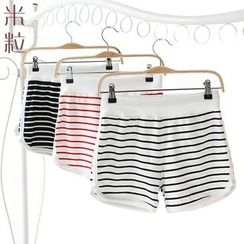 Grainie - Striped Running Shorts