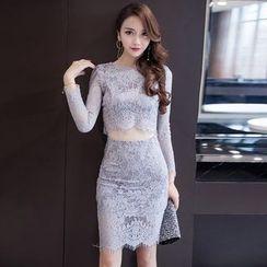 Soraka - Set: Lace Top + Skirt
