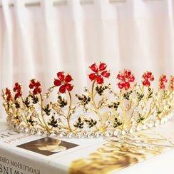 constello - Rhinestone Flower Tiara