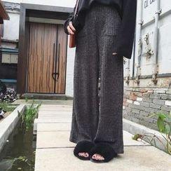 Bloombloom - Woolen Wide Leg Pants
