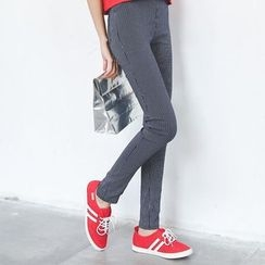 GoFlow - Striped Skinny Pants