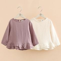 Seashells Kids - Kids Frilled Hem Long-Sleeve Top