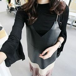 MARSHMALLOW - Bell-Sleeve Top