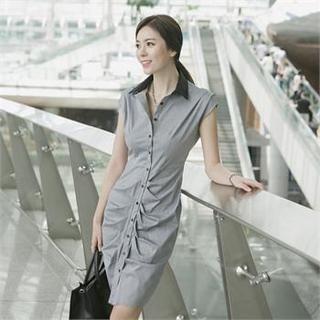 ode' - Sleeveless Button-Down Dress