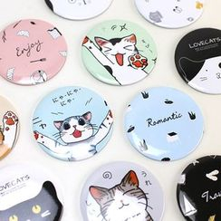 Homey House - Printed Pocket Round Mirror