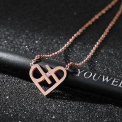 LoveGem - 爱心吊坠项链