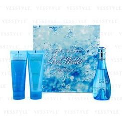 Davidoff - Cool Water Coffret: Eau De Toilette Spray 100ml/3.4oz + Moisturising Body Lotion 75ml/2.5oz + Gentle Shower Breeze 75ml/2.5oz