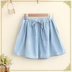 Fairyland - Denim Wide Leg Shorts